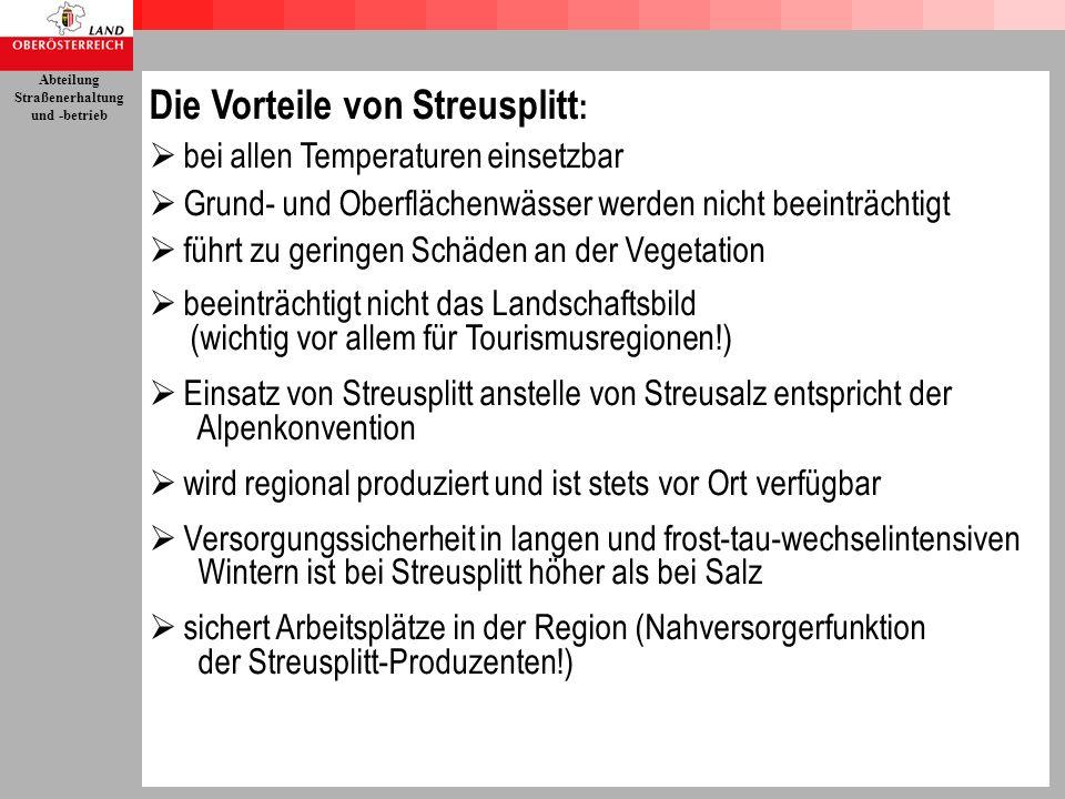 Die Vorteile von Streusplitt: