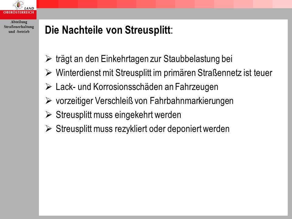 Die Nachteile von Streusplitt: