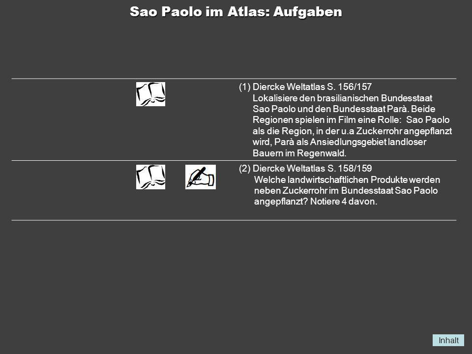 Sao Paolo im Atlas: Aufgaben