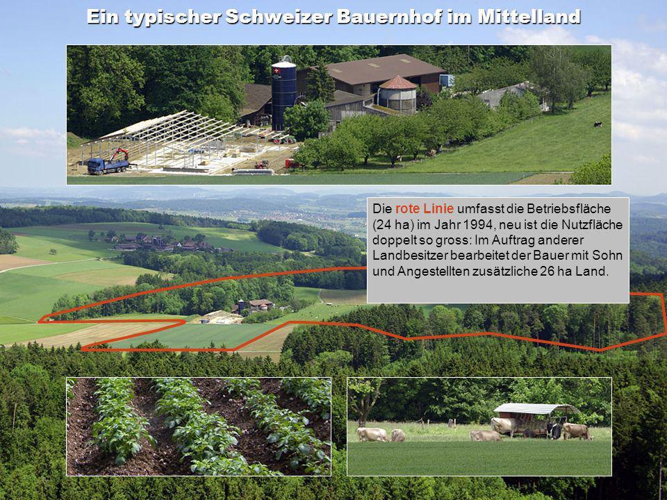 Ein typischer Schweizer Bauernhof im Mittelland