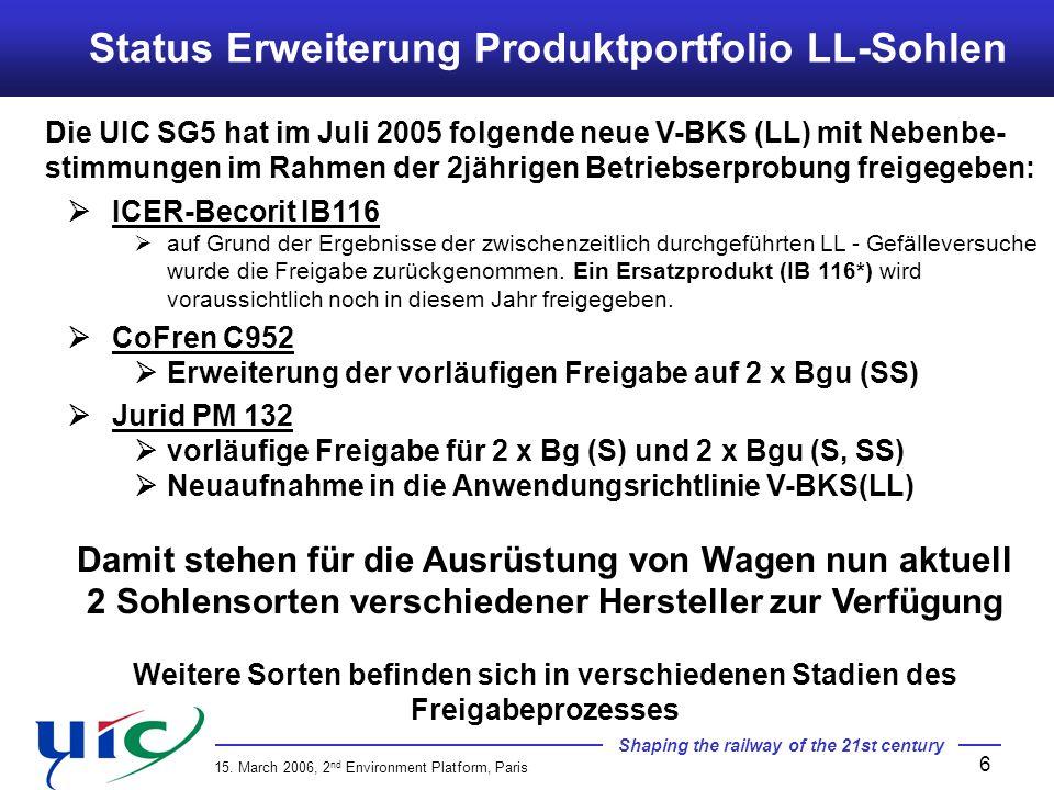 Status Erweiterung Produktportfolio LL-Sohlen