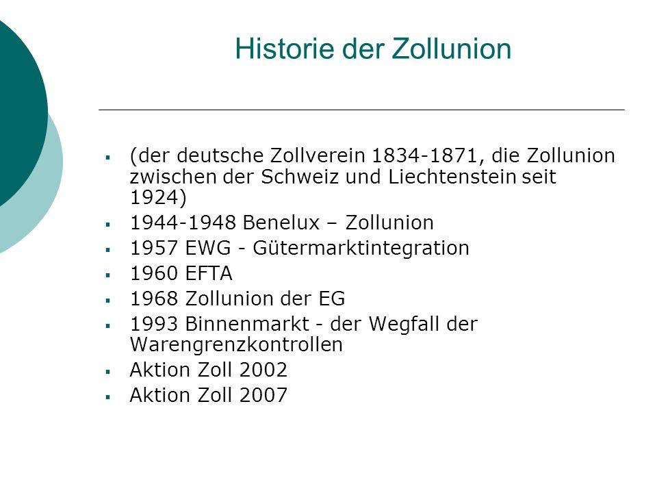 Historie der Zollunion