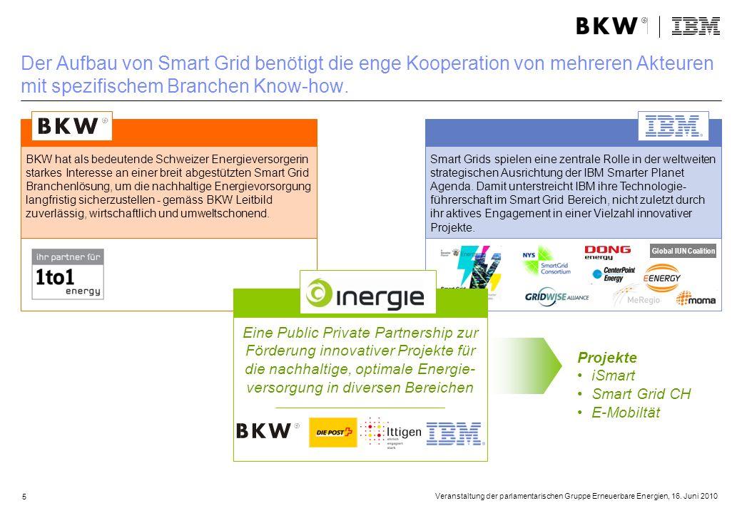 Der Aufbau von Smart Grid benötigt die enge Kooperation von mehreren Akteuren mit spezifischem Branchen Know-how.
