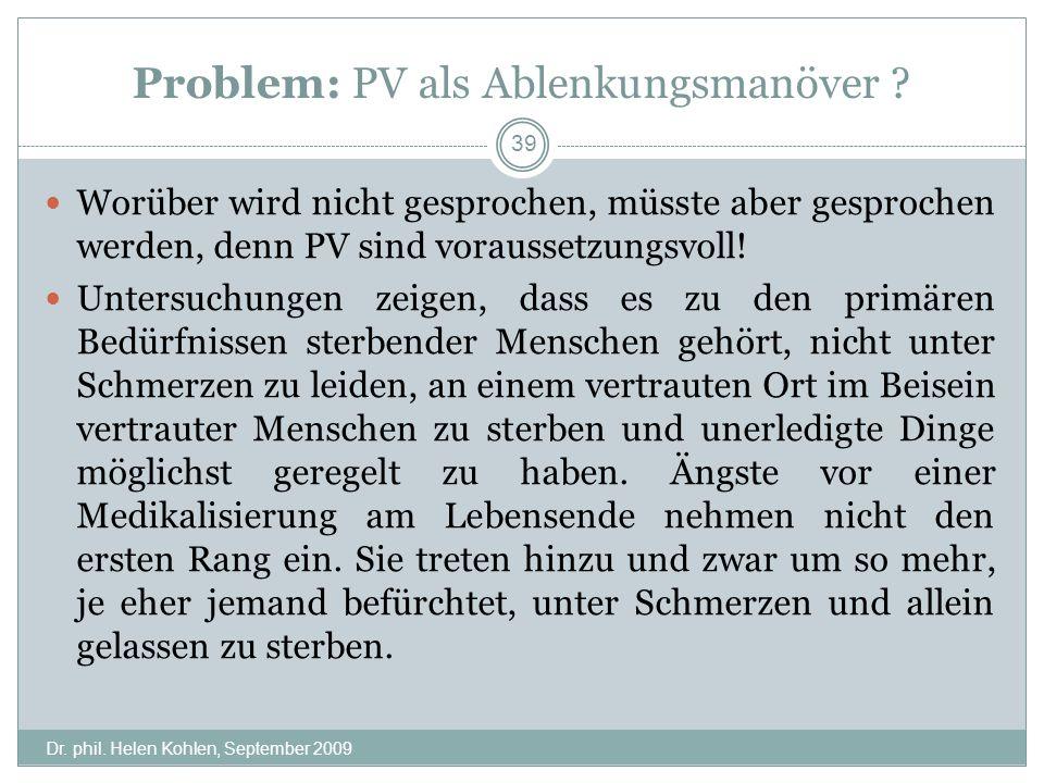 Problem: PV als Ablenkungsmanöver