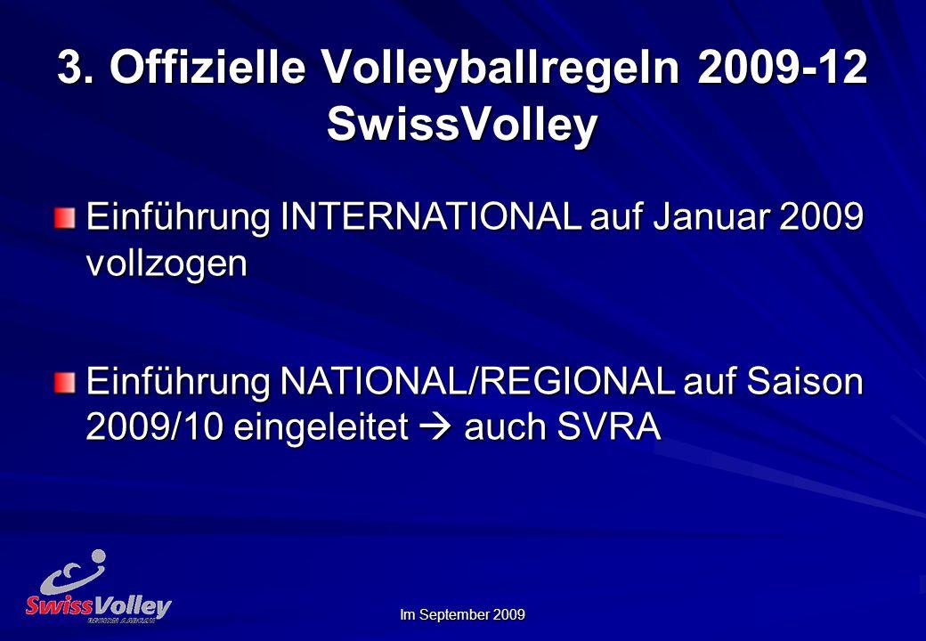 3. Offizielle Volleyballregeln 2009-12 SwissVolley