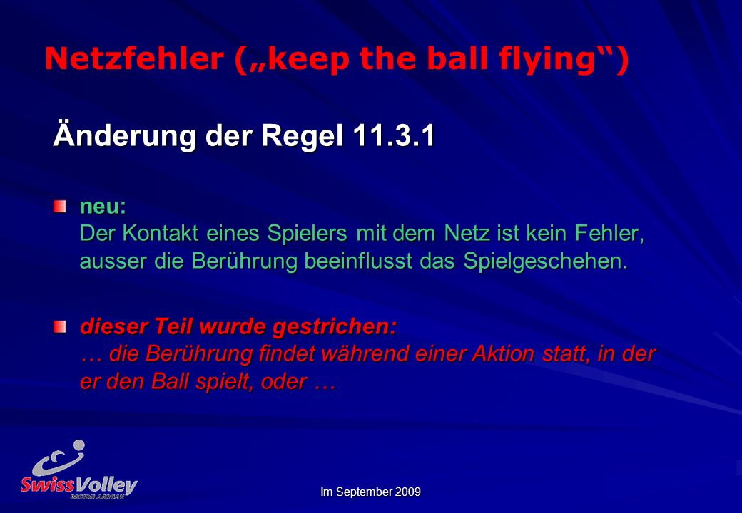 "Netzfehler (""keep the ball flying )"