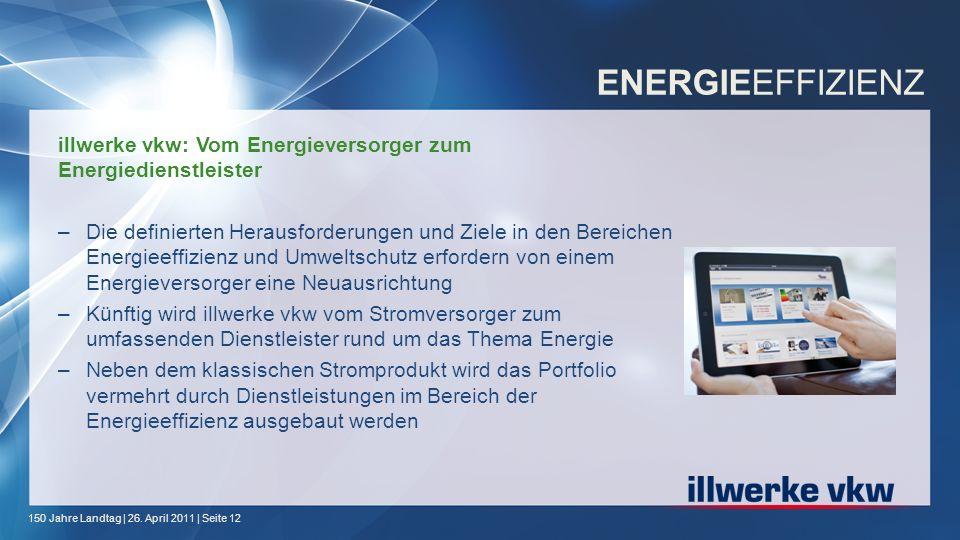 ENERGIEEFFIZIENZ illwerke vkw: Vom Energieversorger zum Energiedienstleister.