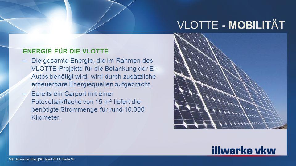 VLOTTE - MOBILITÄT ENERGIE FÜR DIE VLOTTE