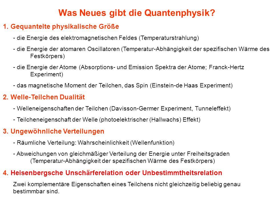 Was Neues gibt die Quantenphysik