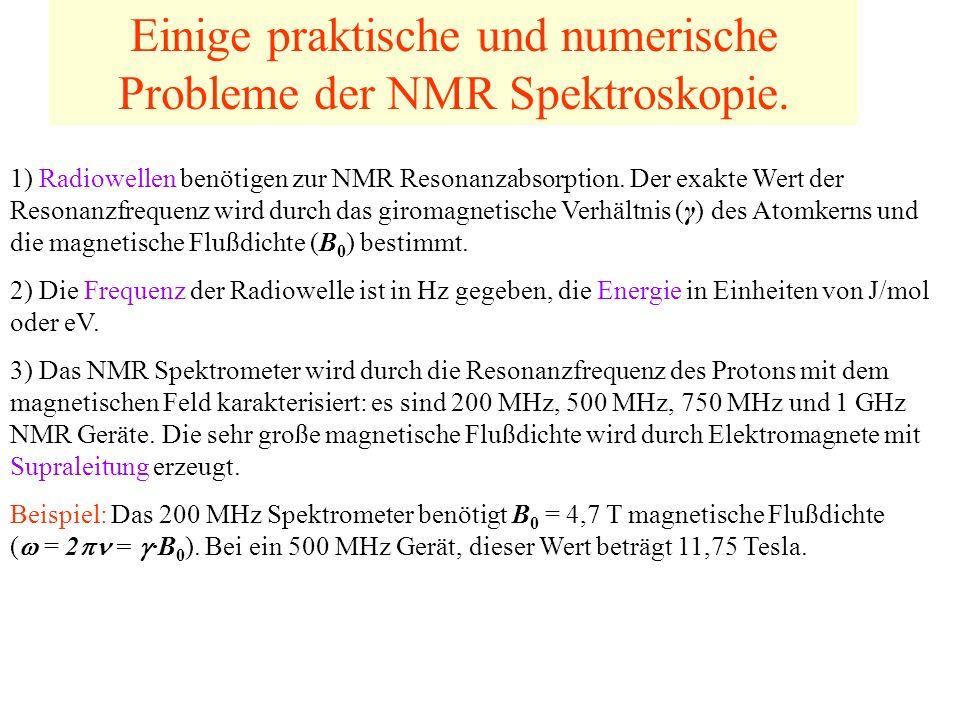 Einige praktische und numerische Probleme der NMR Spektroskopie.