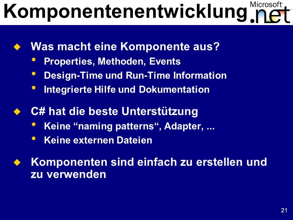 Komponentenentwicklung