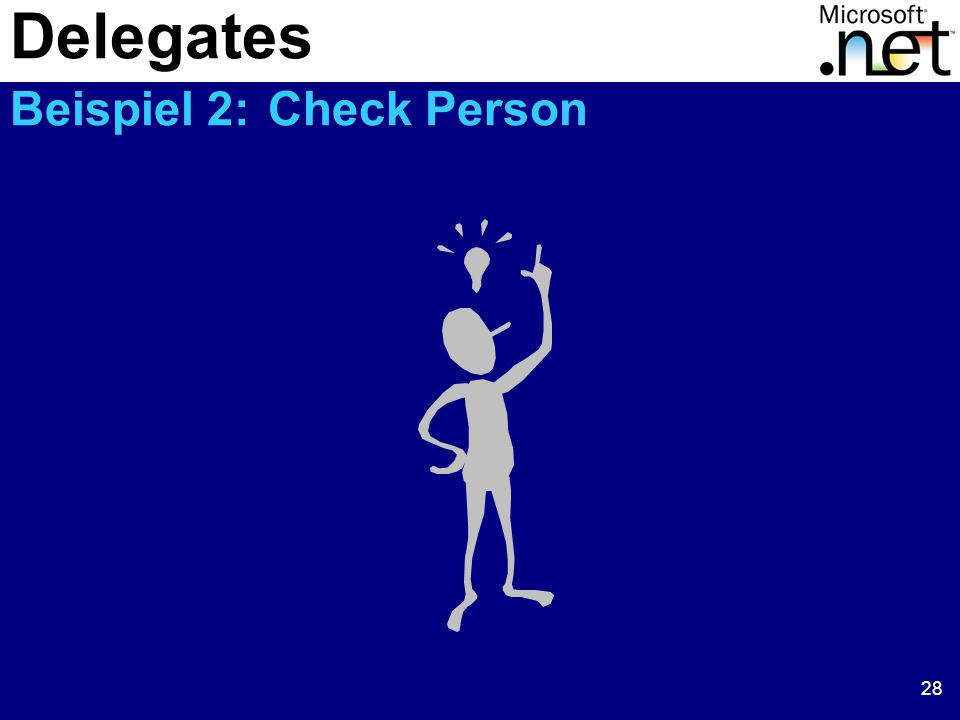 Delegates Beispiel 2: Check Person