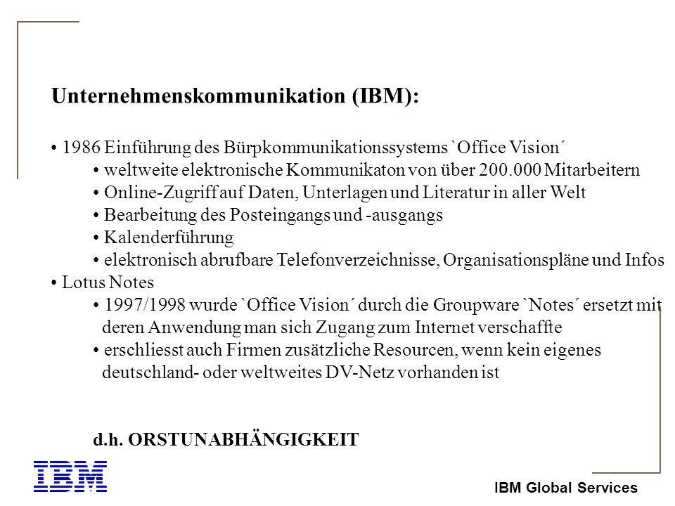 Unternehmenskommunikation (IBM):