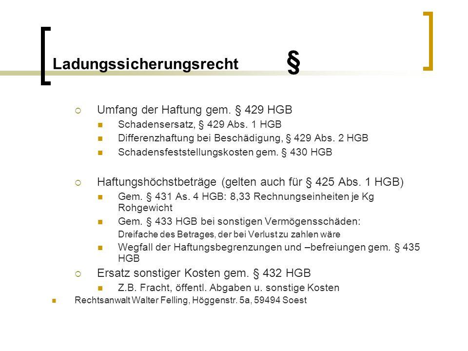 Ladungssicherungsrecht §