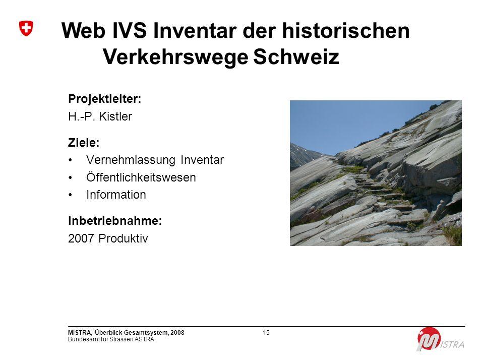 Web IVS Inventar der historischen Verkehrswege Schweiz