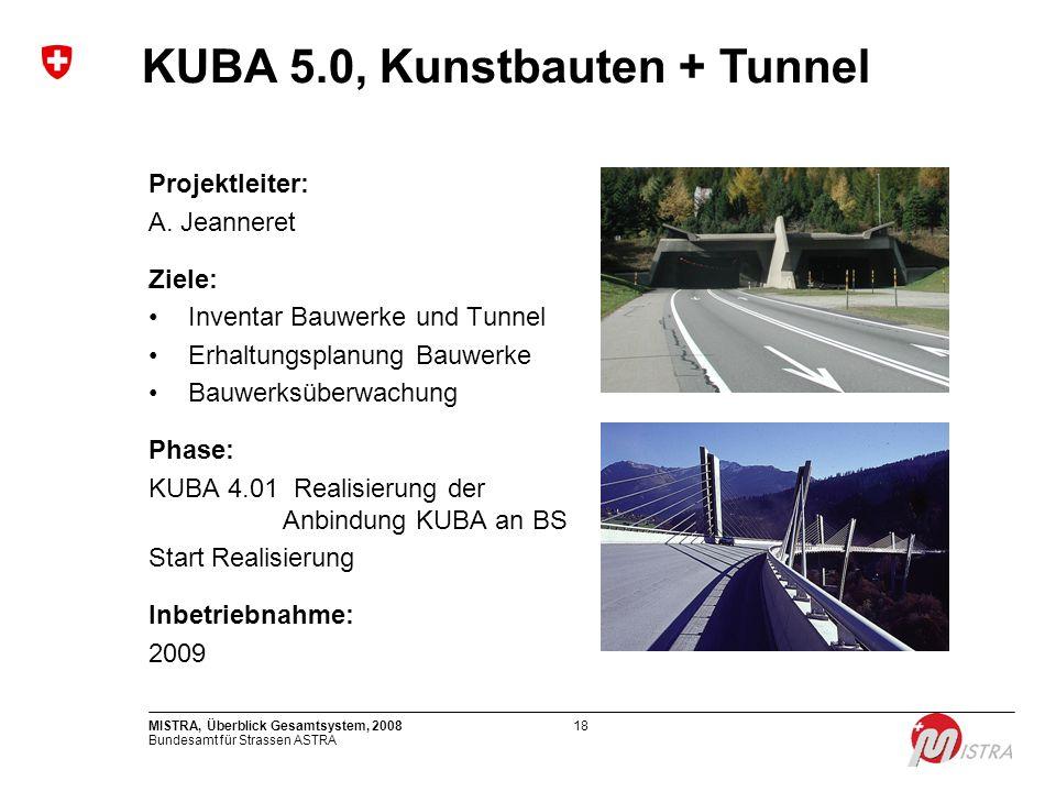 KUBA 5.0, Kunstbauten + Tunnel