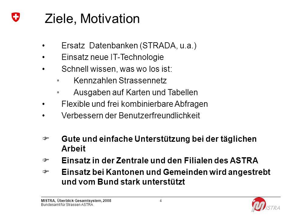 Ziele, Motivation Ersatz Datenbanken (STRADA, u.a.)