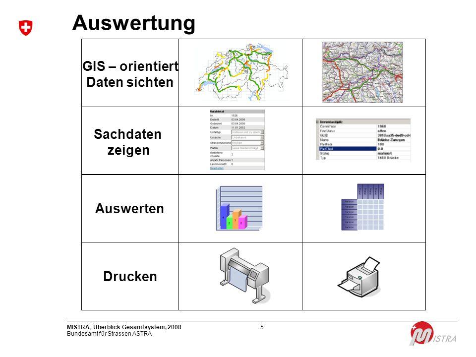 Auswertung GIS – orientiert Daten sichten Sachdaten zeigen Auswerten
