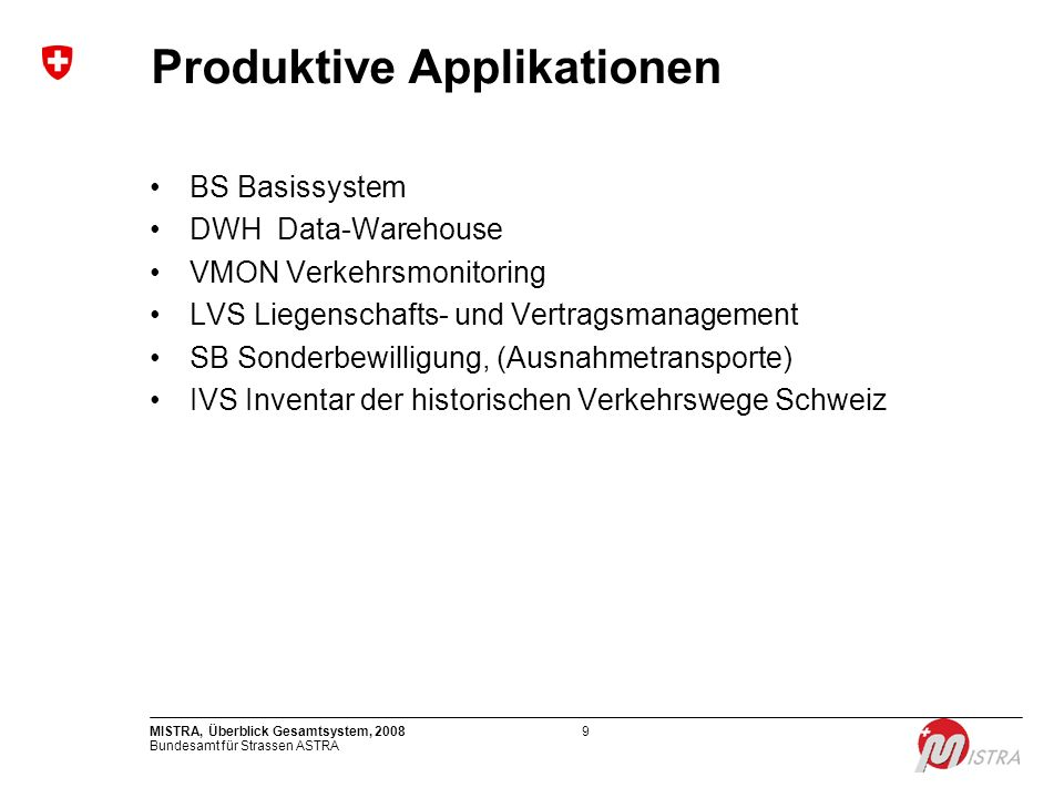 Produktive Applikationen