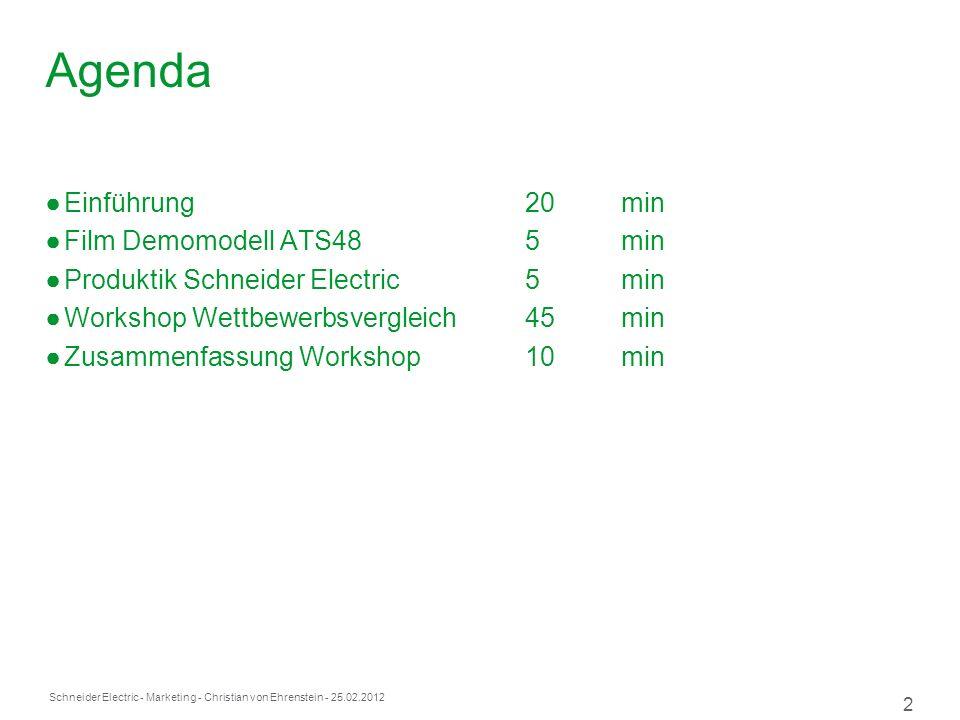 Agenda Einführung 20 min Film Demomodell ATS48 5 min