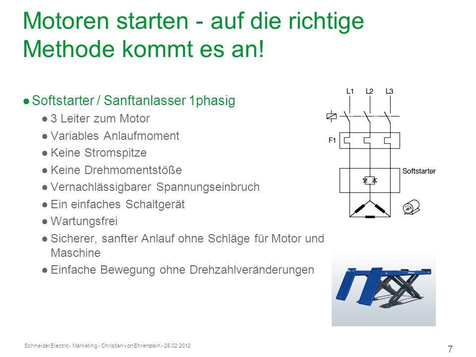 Motoren starten - auf die richtige Methode kommt es an!