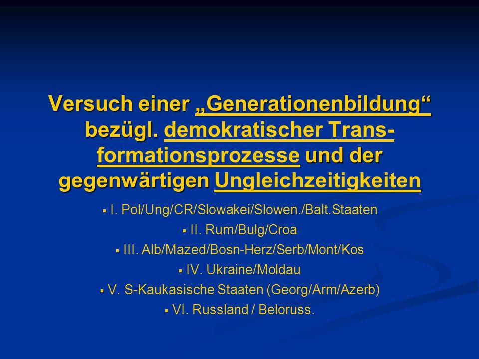 """Versuch einer """"Generationenbildung bezügl"""