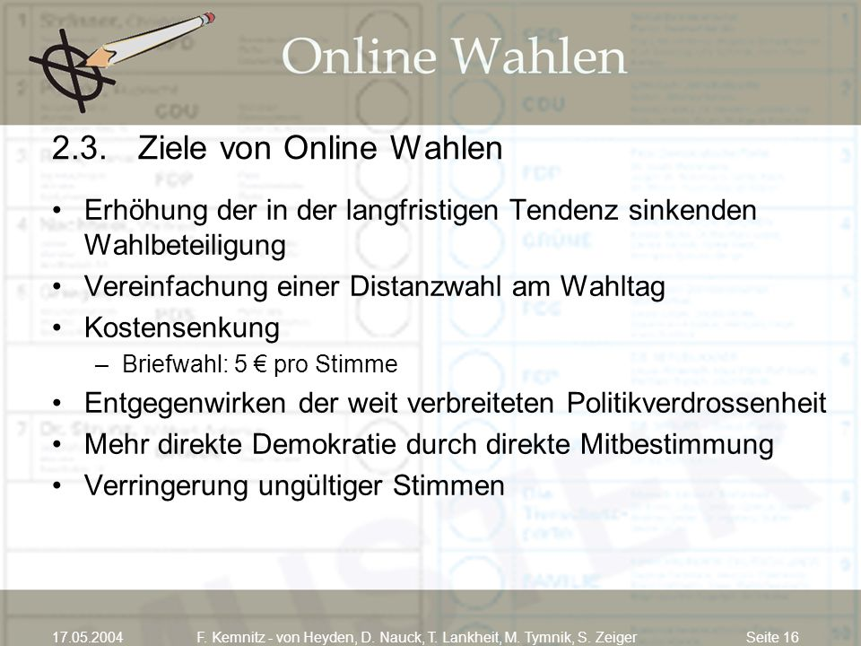 2.3. Ziele von Online Wahlen