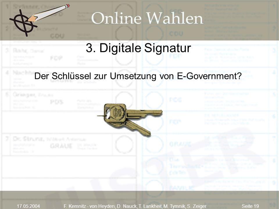 3. Digitale Signatur Der Schlüssel zur Umsetzung von E-Government
