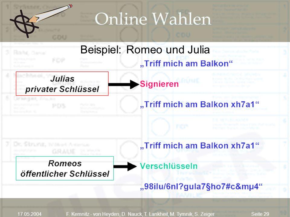 Beispiel: Romeo und Julia