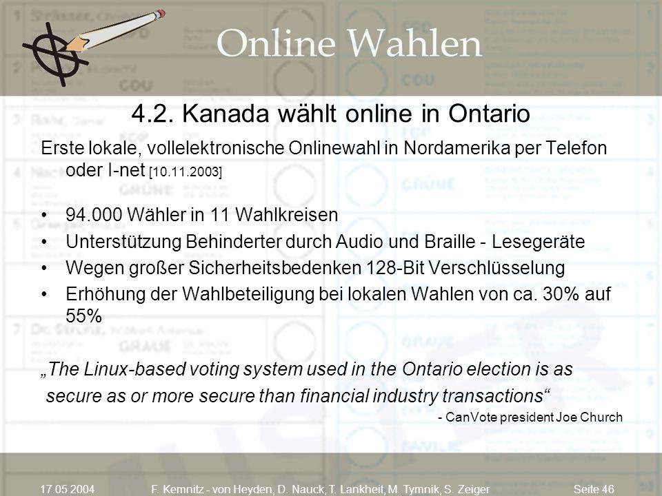 4.2. Kanada wählt online in Ontario