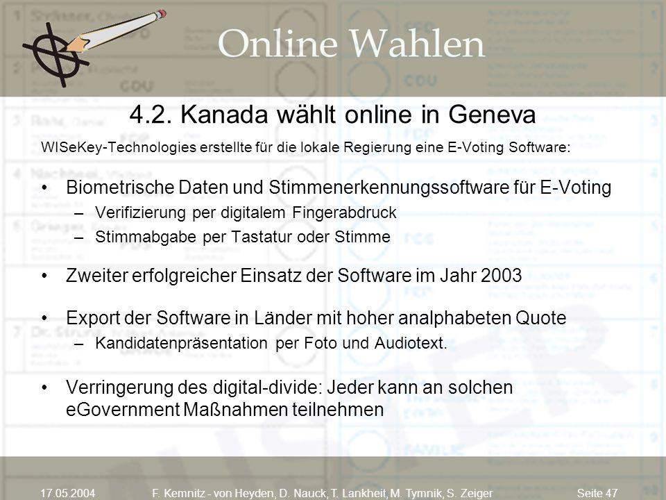 4.2. Kanada wählt online in Geneva