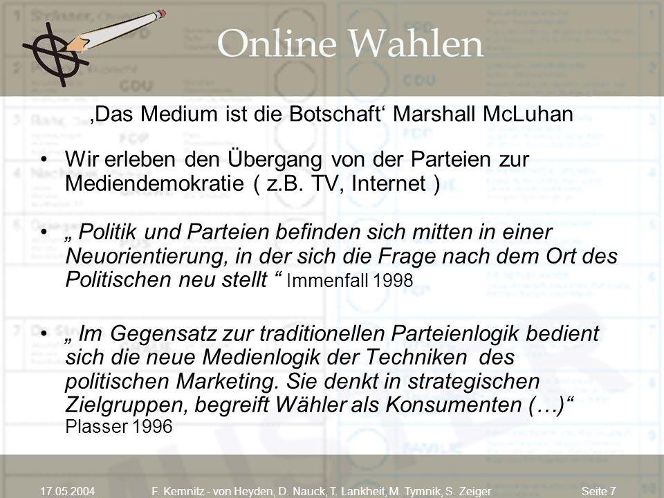 'Das Medium ist die Botschaft' Marshall McLuhan