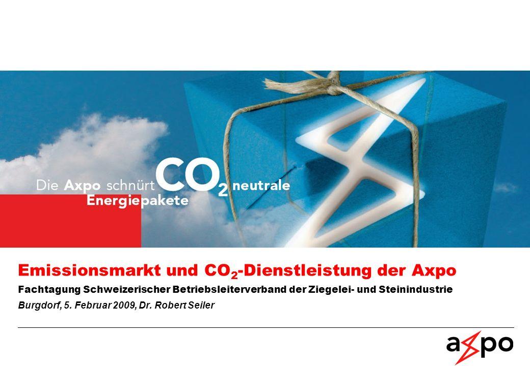 Emissionsmarkt und CO2-Dienstleistung der Axpo