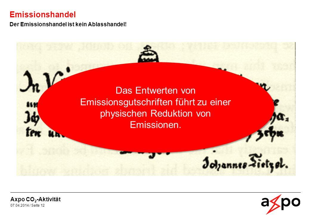 Emissionshandel Der Emissionshandel ist kein Ablasshandel!