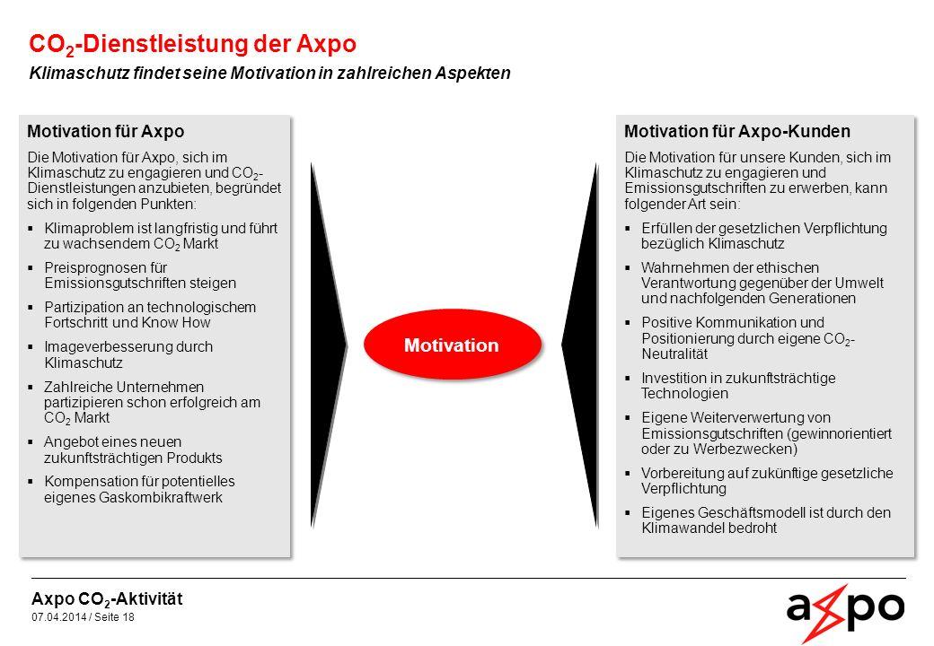 CO2-Dienstleistung der Axpo