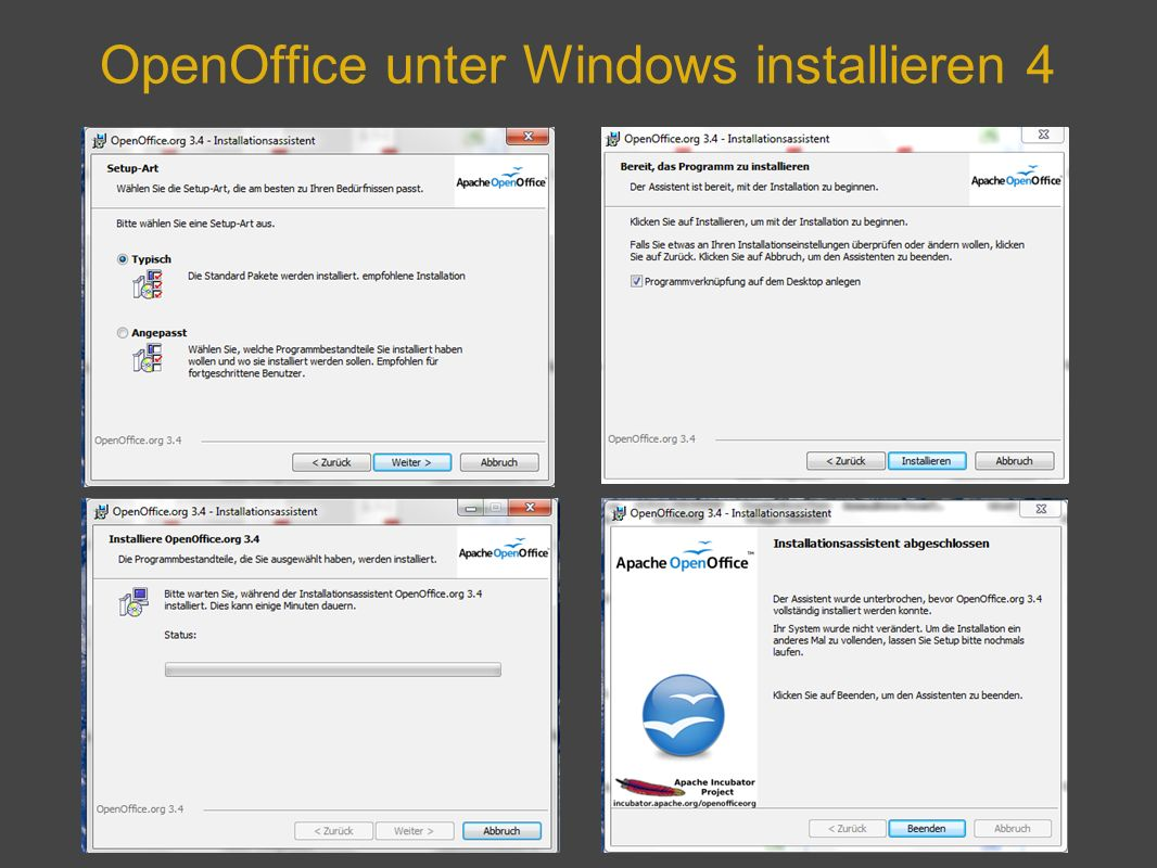OpenOffice unter Windows installieren 4