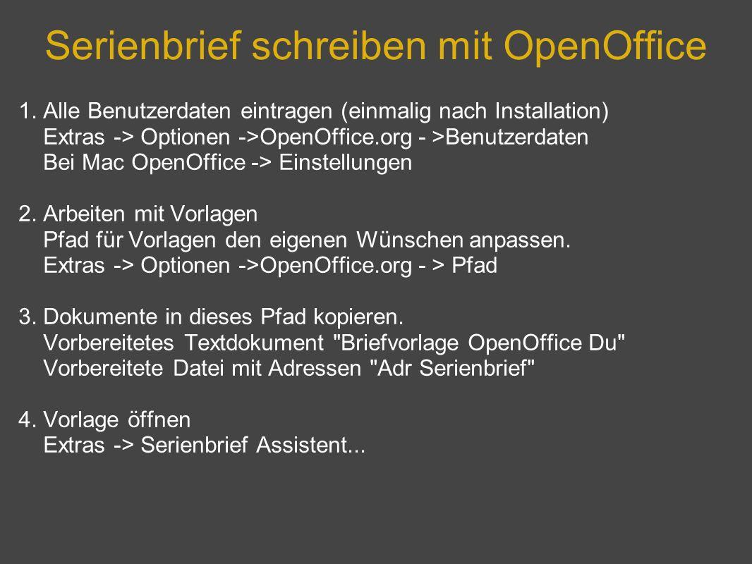 Serienbrief schreiben mit OpenOffice