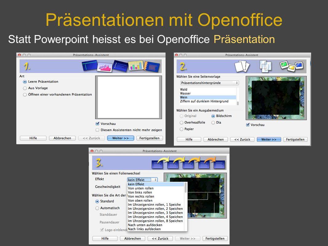 Präsentationen mit Openoffice