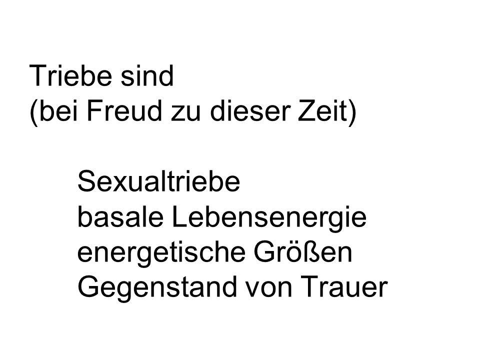 Triebe sind (bei Freud zu dieser Zeit). Sexualtriebe