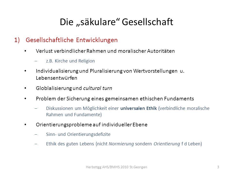 """Die """"säkulare Gesellschaft"""