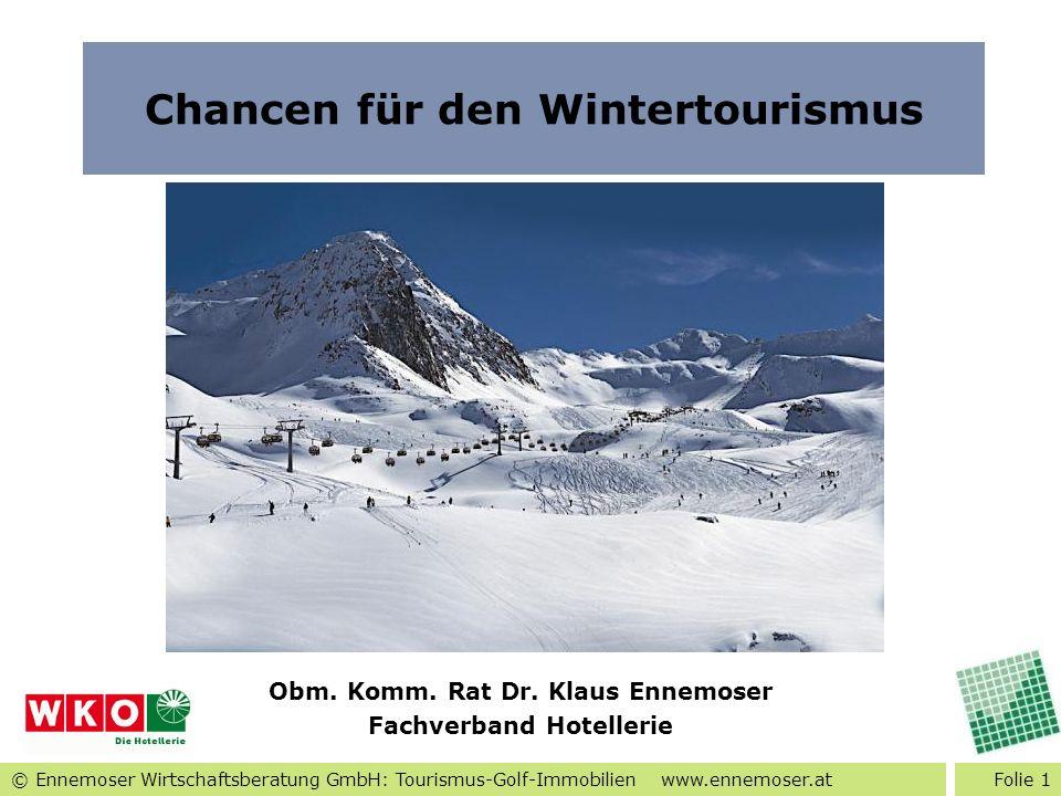 Chancen für den Wintertourismus