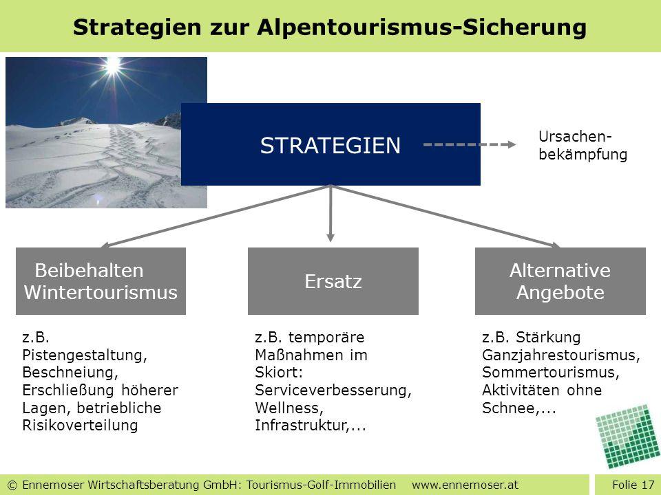 Strategien zur Alpentourismus-Sicherung