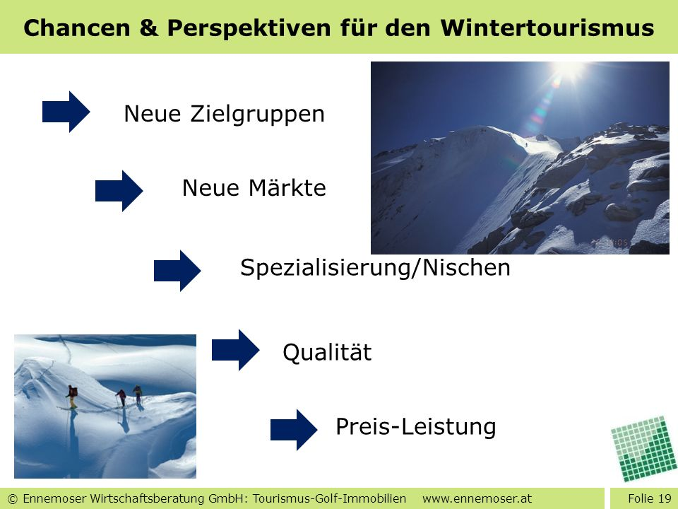 Chancen & Perspektiven für den Wintertourismus