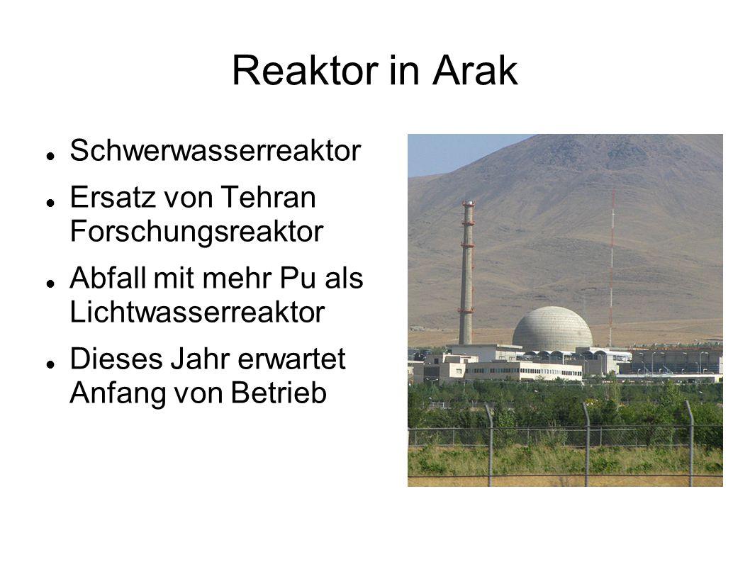 Reaktor in Arak Schwerwasserreaktor