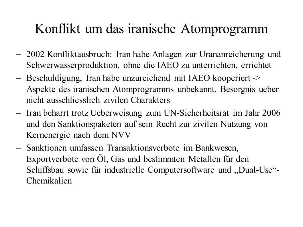Konflikt um das iranische Atomprogramm