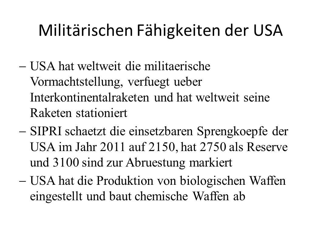 Militärischen Fähigkeiten der USA