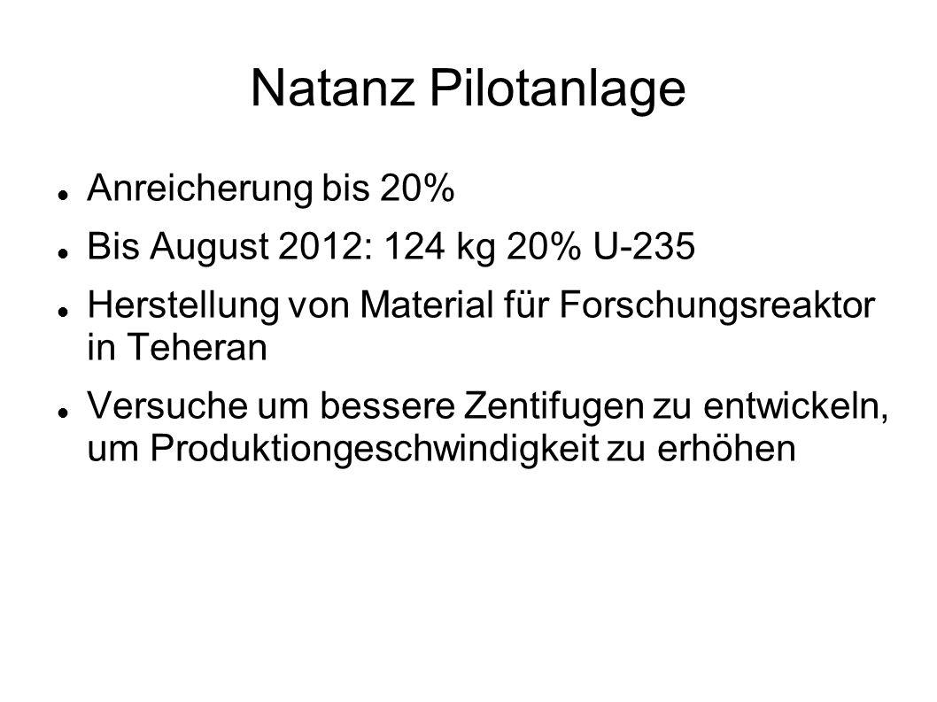 Natanz Pilotanlage Anreicherung bis 20%