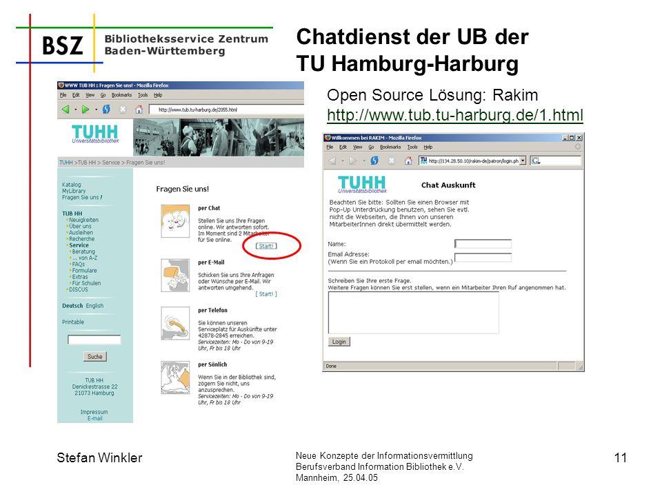 Chatdienst der UB der TU Hamburg-Harburg