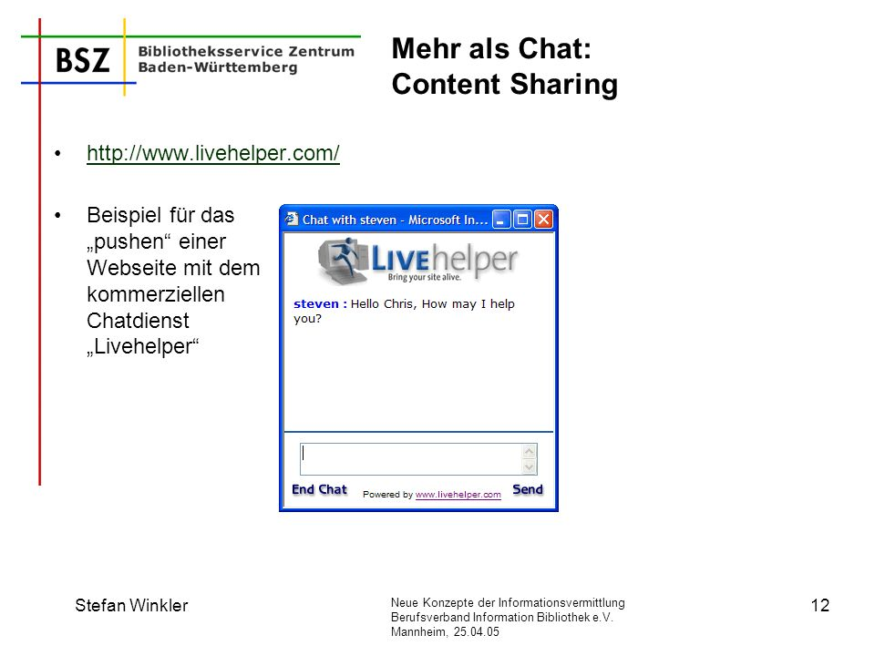 Mehr als Chat: Content Sharing