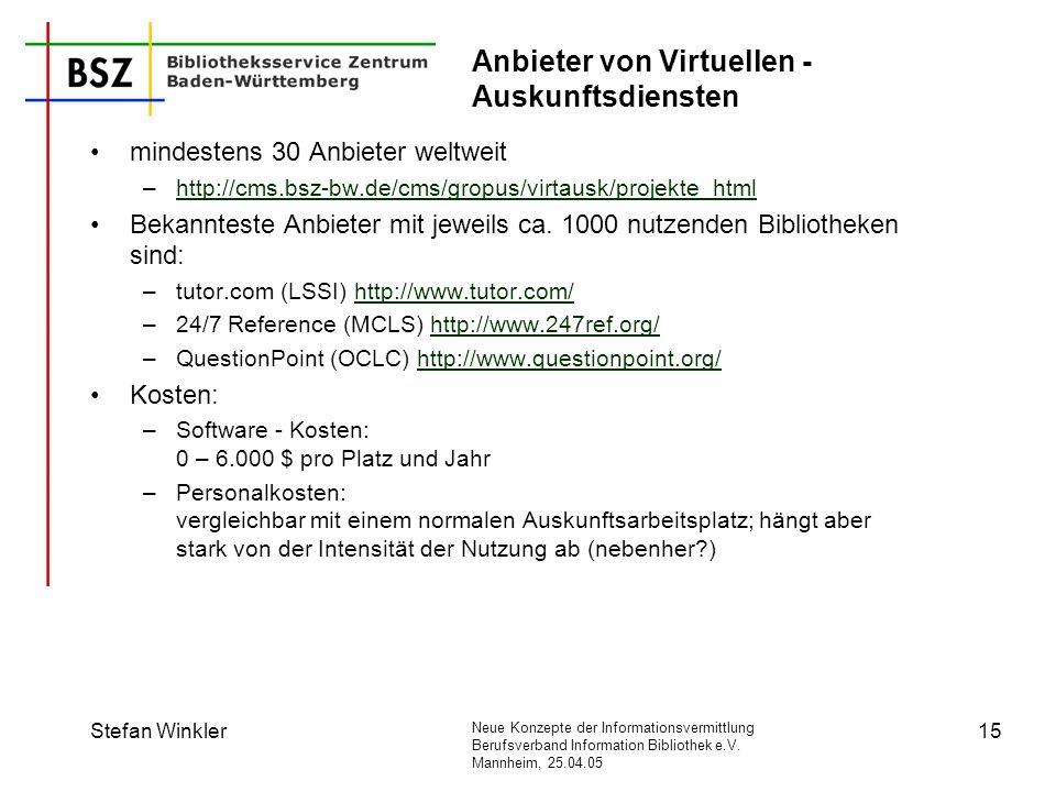 Anbieter von Virtuellen -Auskunftsdiensten